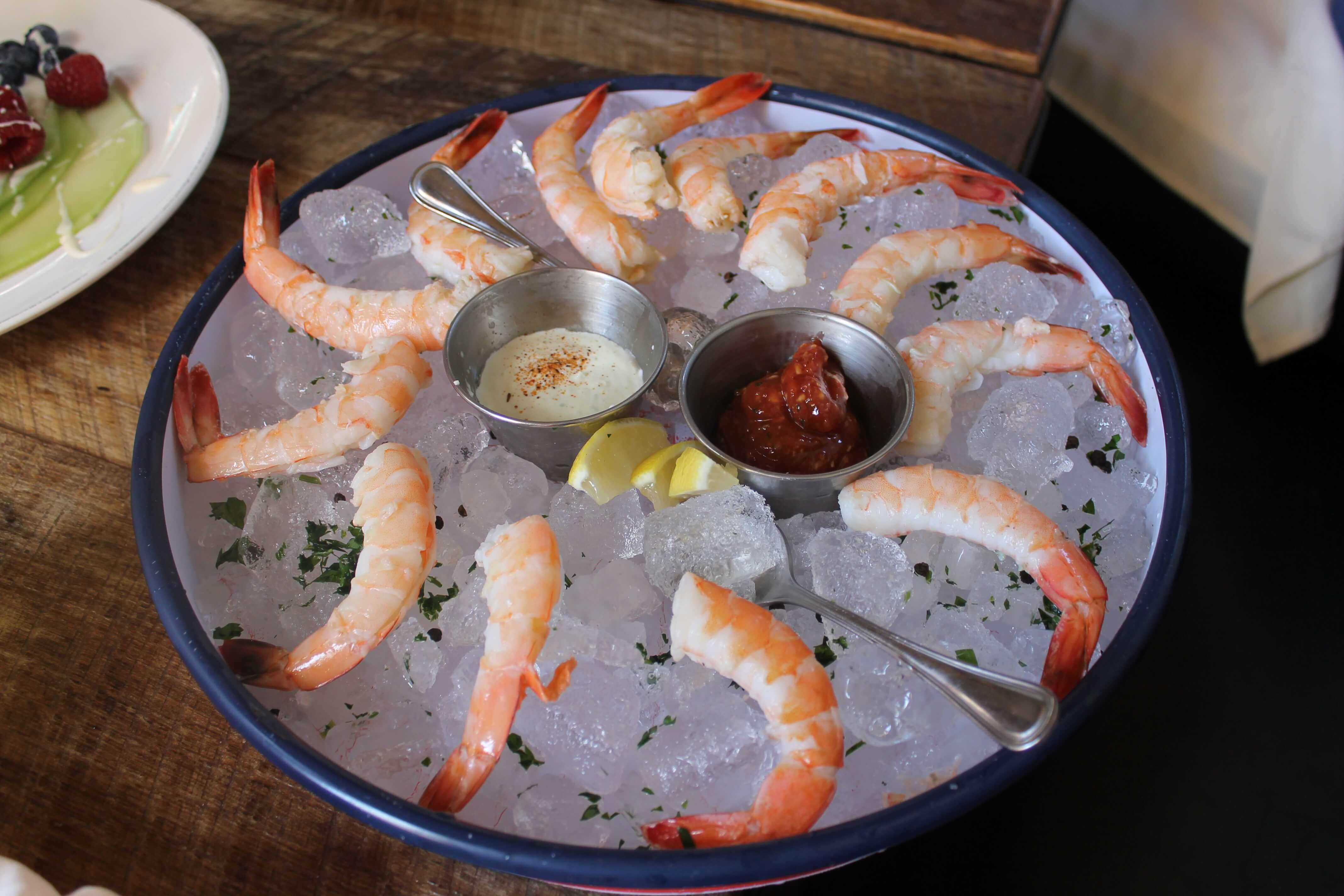 Shrimp at Southerleigh. Photo courtesy of San Antonio Detours.