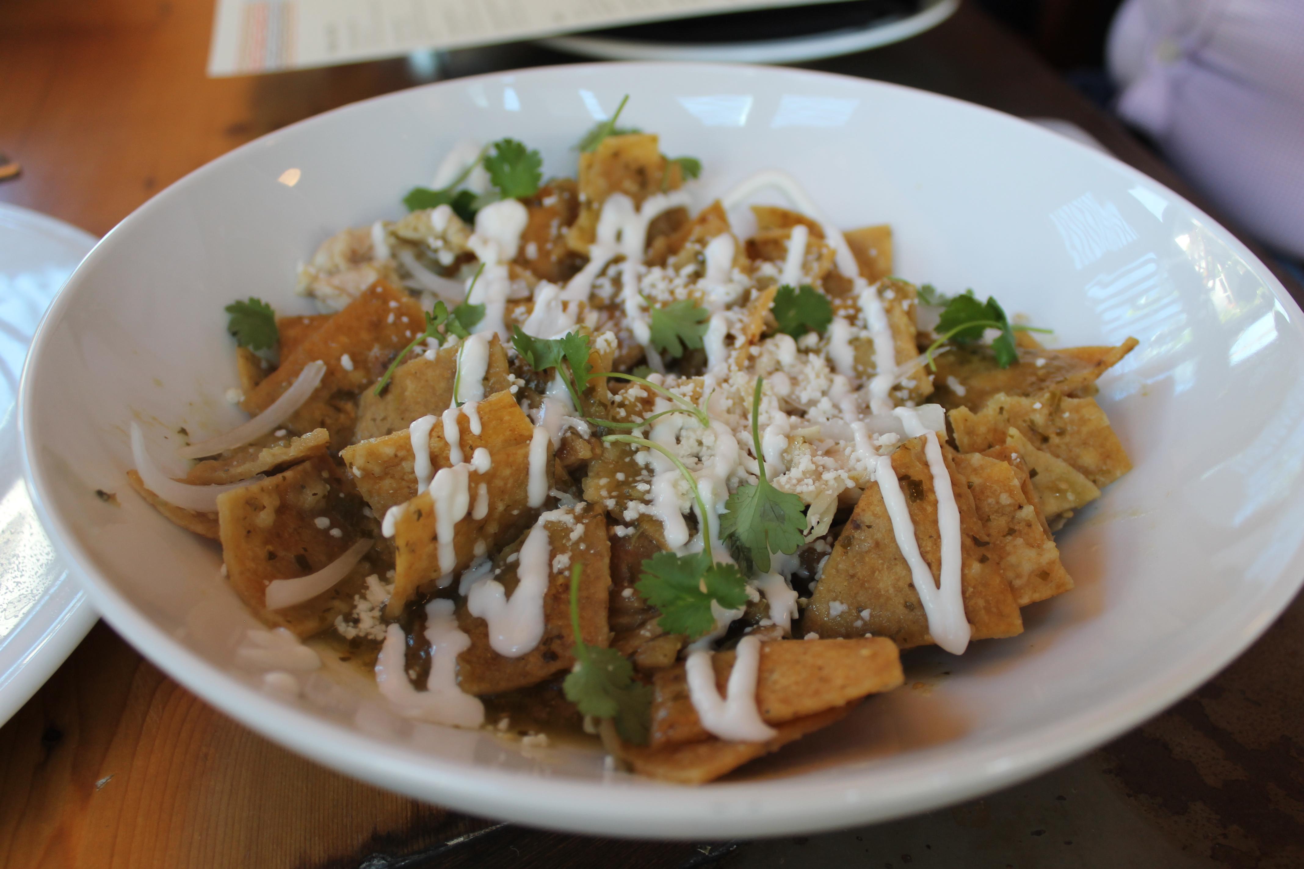 Chilaquiles from Nao Latin Gastro Pub. Photo courtesy of San Antonio Detours.